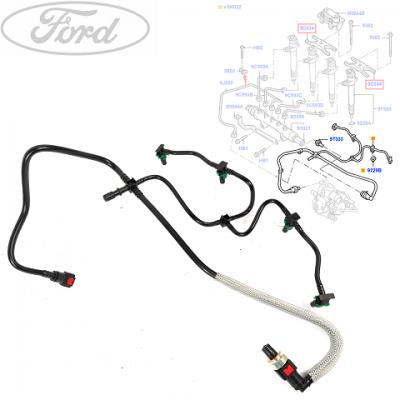 трубка обратчки 2.4 06- топливная система  для Форд Транзит