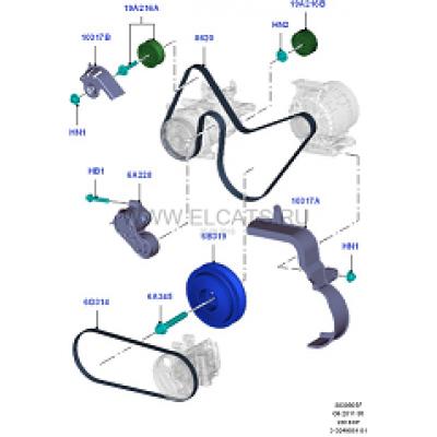 ремень приводной fwd euro4 +ac ролики/навесное  для Форд Транзит