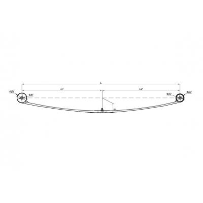 рессора rwd 06-14 (3листа) коренной задняя/рессоры  для Форд Транзит