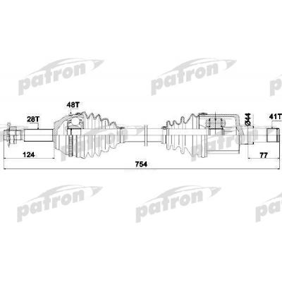 привод левый в сборе 06-13 (vmt6) трансмиссия  для Форд Транзит