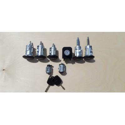 комплект личинок коннект/фокус (5 дверей, задняя распашная) замки/ключи/ролики  для Форд Транзит
