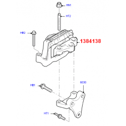 опора двигателя r fwd (без кронштейна) ролики/навесное  для Форд Транзит