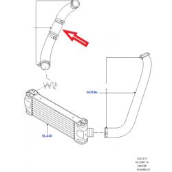 Патрубок интеркуллера 2.4L (турбина-куллер)