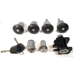Комплект личинок 00-06 (4 двери-капот-бак-зажигание-(2 ключа не под чип)